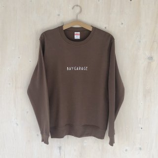 BAY GARAGE <br>Crewneck Sweat  <br>Dark Brown