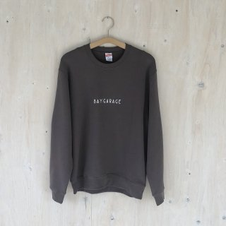 BAY GARAGE <br>Crewneck Sweat  <br>Chacoal