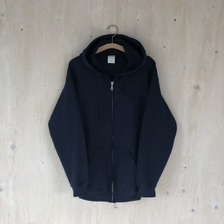 BG  Printed Zip Hoodie <br>Navy x Black Embroidered&Printed
