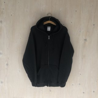 BAY GARAGE Zip up Hoodie <br>Black x Black