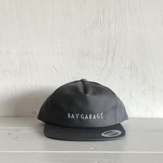 BAY GARAGE Six Panel Cap<br>  Unstructured Twill <br> Chacoal