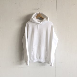 BAY GARAGE <br>Hoodie<br>White x White Printed
