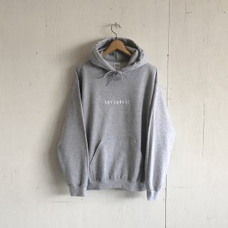 BAY GARAGE <br>Hoodie<br>Grey x White Printed