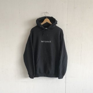 BAY GARAGE <br>Hoodie<br>Black x White Printed