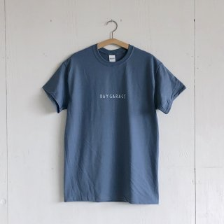 BAY GARAGE Printed T <br>'19 s/s<br> Indigo x White Printed