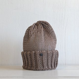 ' CPH c-plus headwear '<br> CUF KNIT CAP/STRAW YARN <br>(cocoa)