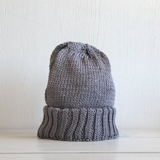 ' CPH c-plus headwear '<br> CUF KNIT CAP/STRAW YARN <br>(gray)