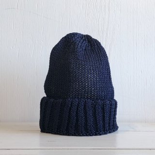 ' CPH c-plus headwear ' <br>CUF KNIT CAP/STRAW YARN <br>(navy)