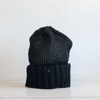 ' CPH c-plus headwear ' <br>CUF KNIT CAP/STRAW YARN <br>(black)