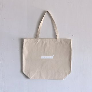 BAY GARAGE 1st aniversary <br>' CRUISE Tote '<br> Natural x White Printed