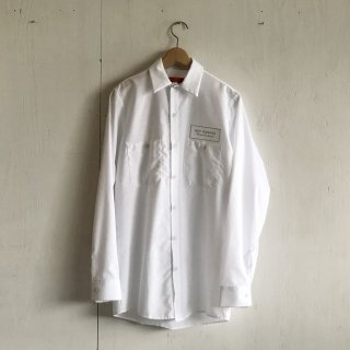 BAY GARAGE Work Shirts<br>Long Sleeve <br> white