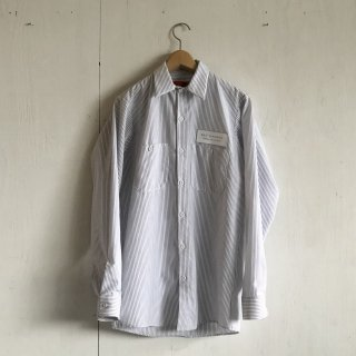 BAY GARAGE Work Shirts<br>Long Sleeve <br> white x navy