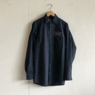 BAY GARAGE Work Shirts<br>Long Sleeve <br> navy