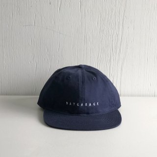 BAY GARAGE Six Panel Cap<br>  New Logo <br> navy