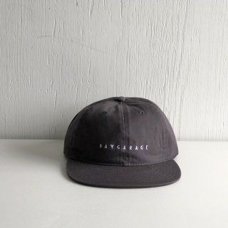 BAY GARAGE Six Panel Cap<br>  New Logo <br> chacoal