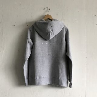 BAYGARAGE  Printed Zip Hoodie <br>New Logo<br>gray x white Printed