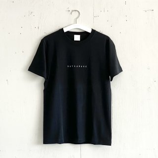 BAYGARAGE T shirt<br>New Logo<br> black x White Printed