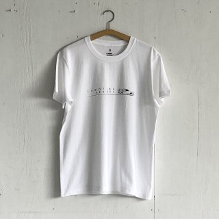 BAYGARAGE T Shirt<br>Shooting Brakes<br> White