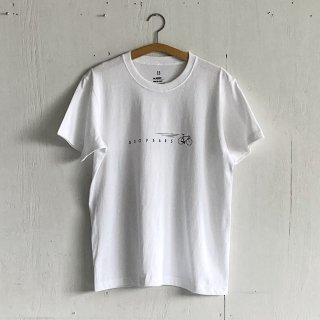 BAYGARAGE T Shirt<br>Drop Bars<br>White