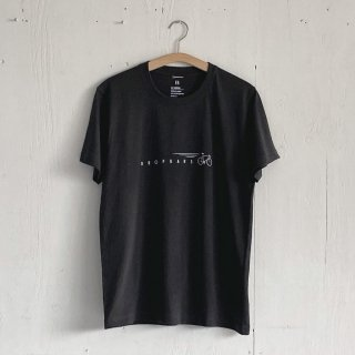 BAYGARAGE T Shirt<br>Drop Bars<br>Charcoal