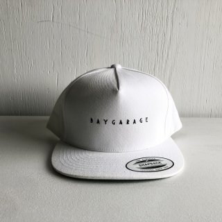 BAY GARAGE 5 Panel Cap<br>  New Logo <br> white