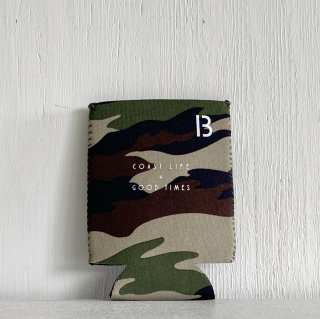 BAY GARAGE Koozie <br>Coast Life + Good Times<br>Camo