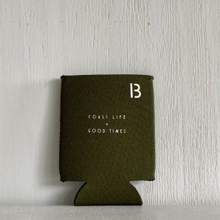BAY GARAGE Koozie <br>Coast Life + Good Times<br>Olive