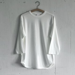 BAY GARAGE <br>3/4 Sleeve Baseball T <br>Natural