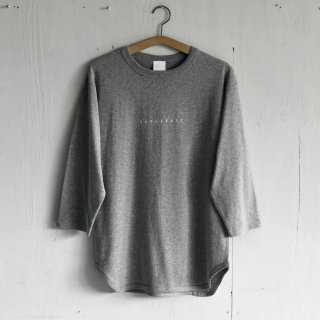 BAY GARAGE <br>3/4 Sleeve Baseball T <br>Gray