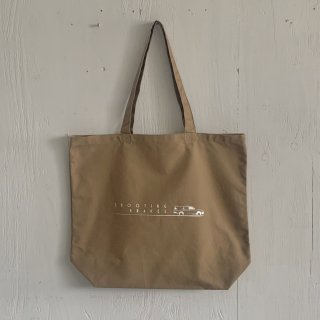 BAY GARAGE Canvas Tote Bag <br>Shooting Brakes<br> Sand Beige