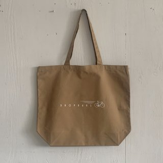 BAY GARAGE Canvas Tote Bag <br>Drop Bars<br> Sand Beige