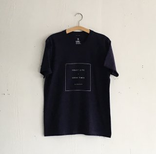 BAYGARAGE T Shirt<br>Coast Life + Good Times<br> Navy
