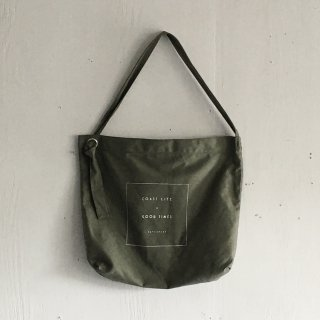 BAYGARAGE  Canvas Bag<br>Coast Life + Good Times<br> Olive