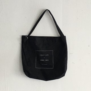 BAYGARAGE  Canvas Bag<br>Coast Life + Good Times<br> Black