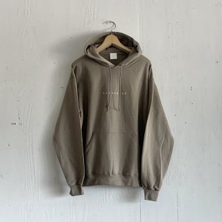 BAYGARAGE  Pullover Hoodie <br>New Logo<br>Sand x White Printed