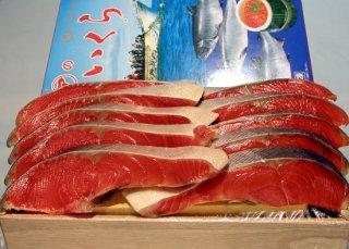 【親子セット】ロシア産塩紅鮭(10切れ)と塩いくら(500g)の親子セット