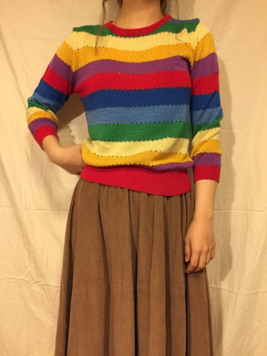 used rainbow knit