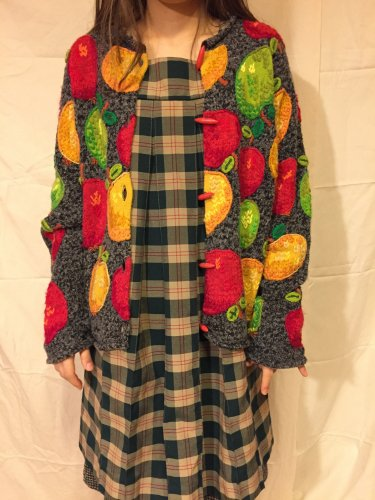 used green check dress