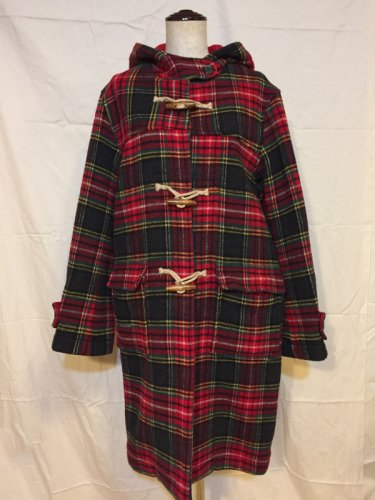 used red check Duffel coat