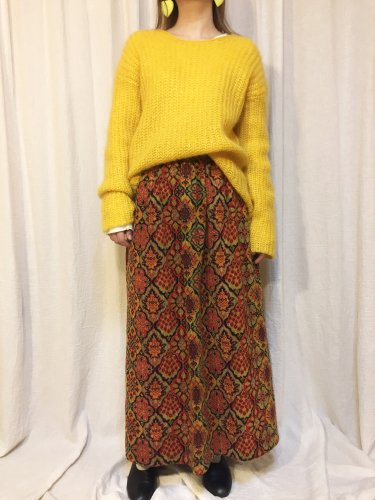 vintage LISA ASHLEY(80's)yellow knit