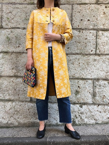 yellow china coat