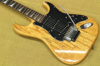 "NO BRAND Stratocaster Type ""Flame Spalted Maple"" × Mighty Mite Neck"