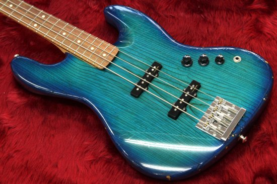 ESP body Warmoth neck Jazz Bass Type Blue