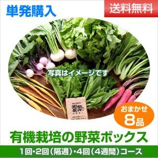 単発購入 有機野菜8品ボックス