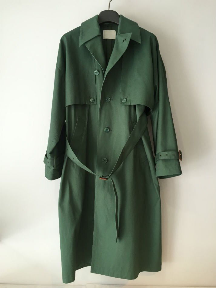 SPANISH TRENCH COAT M.GRN<img class='new_mark_img2' src='//img.shop-pro.jp/img/new/icons47.gif' style='border:none;display:inline;margin:0px;padding:0px;width:auto;' />