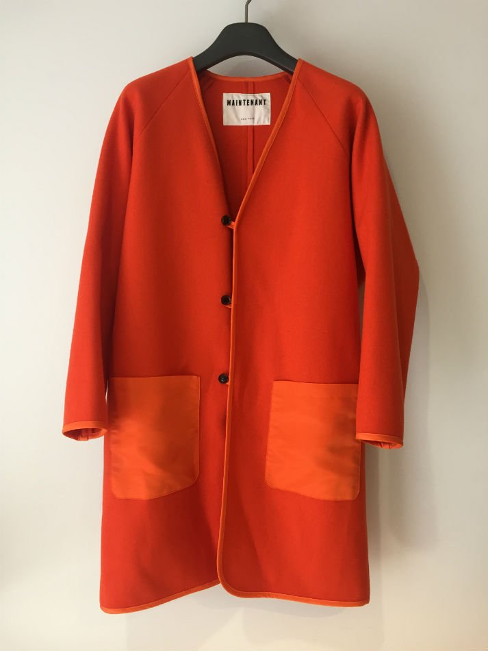 NAVY HEAVY MELTON OVERSISED LINING COAT ORANGE <img class='new_mark_img2' src='//img.shop-pro.jp/img/new/icons47.gif' style='border:none;display:inline;margin:0px;padding:0px;width:auto;' />