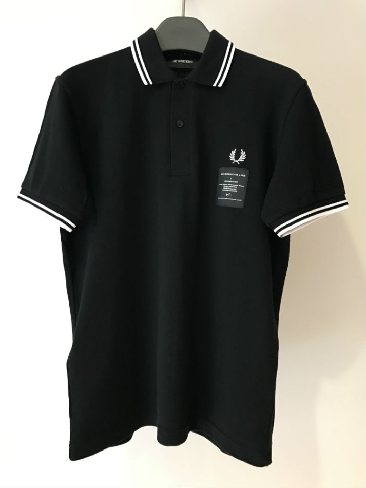 PRINTED TWIN TIPPED PIQUE SHIRT BLACK<img class='new_mark_img2' src='//img.shop-pro.jp/img/new/icons47.gif' style='border:none;display:inline;margin:0px;padding:0px;width:auto;' />
