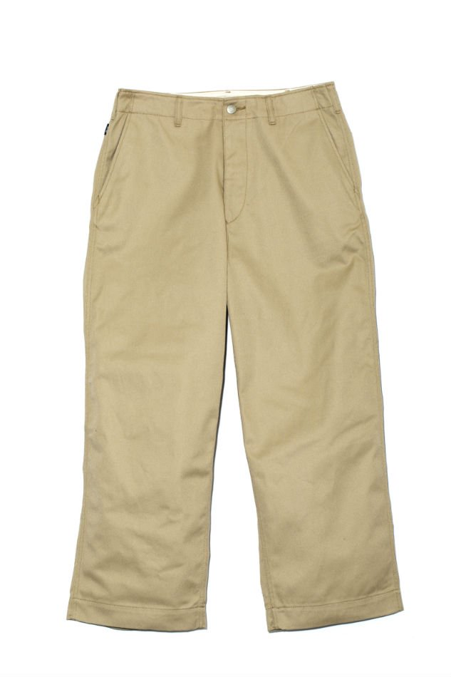 HELLOS EXTRAFINE<br />Cotton wide chino Beige<img class='new_mark_img2' src='//img.shop-pro.jp/img/new/icons47.gif' style='border:none;display:inline;margin:0px;padding:0px;width:auto;' />