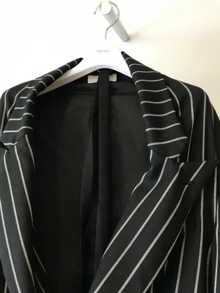 NEON SIGN<br />FUNCTION JACKET CHALK STRIPE<img class='new_mark_img2' src='//img.shop-pro.jp/img/new/icons47.gif' style='border:none;display:inline;margin:0px;padding:0px;width:auto;' />