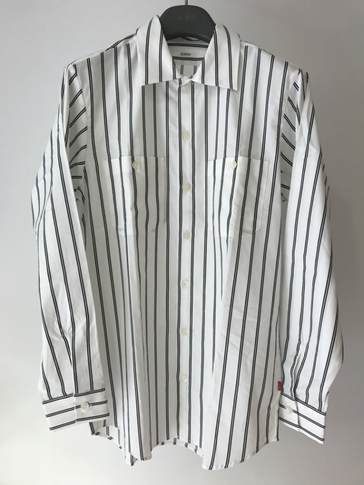 KAIKO<br />THE WORKER SHIRT STRIPE WHITE<img class='new_mark_img2' src='//img.shop-pro.jp/img/new/icons14.gif' style='border:none;display:inline;margin:0px;padding:0px;width:auto;' />